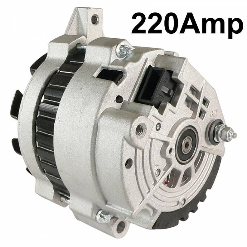 New 12v 220 Amp Alternator Fits Gmc G2500 G3500 P2500
