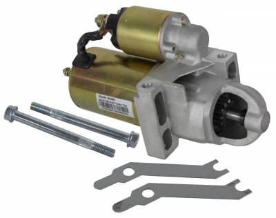 Rareelectrical - New Sbc Bbc Chevrolet Staggered Bolt Hi Torque Mini Starter For 305 350 366 454 Fits 168 Tooth