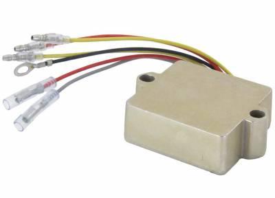 Rareelectrical - New Rectifier/Regulator Fits 01 Yamaha F40mlhz F40mshz F40tlrz T25tlrz 65W-819600000