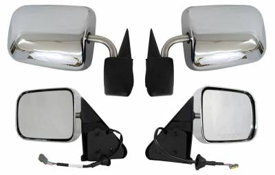 Rareelectrical - New Door Mirror Pair Fits Dodge 97 Ram 1500 2500 3500 4000 Power W/O Heat Ch1320132 Ch1321132