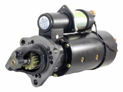 Rareelectrical - New 24V 11T Cw Starter Motor Fits Peterbilt Truck Engine C-190 V-903 V8-210