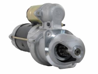 Rareelectrical - New 12V 10T Cw Starter Motor Fits Bobcat Clark Skid Steer Loader 975 4-276 Re50095 - Image 1