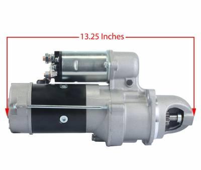 Rareelectrical - New 12V 10T Cw Starter Motor Fits Bobcat Clark Skid Steer Loader 975 4-276 Re50095 - Image 3