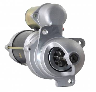 Rareelectrical - New 12 Volts 10 Teeth Starter Motor Fits Lister-Petters Tractor Tx2 Tx3 1987 10461463 10479607 - Image 1