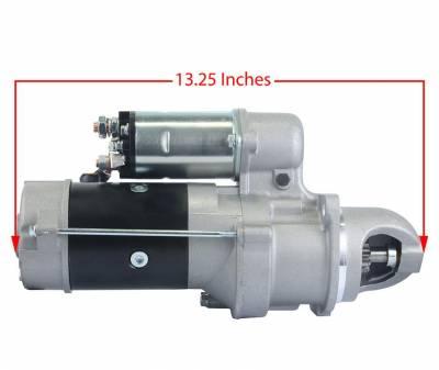 Rareelectrical - New 12V 10T Cw Starter Motor Fits John Deere Tractor 310C 310D 400G 410C 1113271 - Image 3