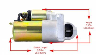 Rareelectrical - New Starter Fits 79-85  Volvo Penta Marine Inboard Aq290a 50-806965A2 3855882 18-5919 3854750-1 - Image 3
