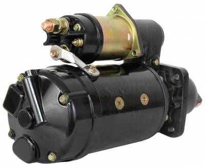 Rareelectrical - New Starter Motor Fits Massey Ferguson Loader Mf-11 Mf-33 Mf-60 Ty6667 Ty6710 - Image 2
