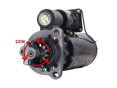 Rareelectrical - New 12V Counter Clockwise Starter Fits 40Mt Delco Type 1114106 1114097 1114059 1114702 1114808 - Image 1