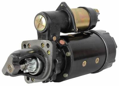 Rareelectrical - New Starter Motor Fits Massey Ferguson Combine Mf-510 Mf-540 Mf-550 Mf-750 12301387 - Image 1