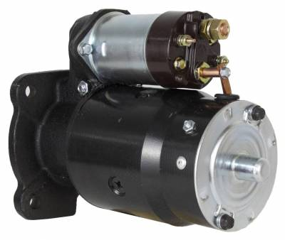 Rareelectrical - New 12V 10T Starter Motor Compatible With Massey Ferguson Lift Truck Mf-2500 Mf-4000 1108379 1108379 - Image 2
