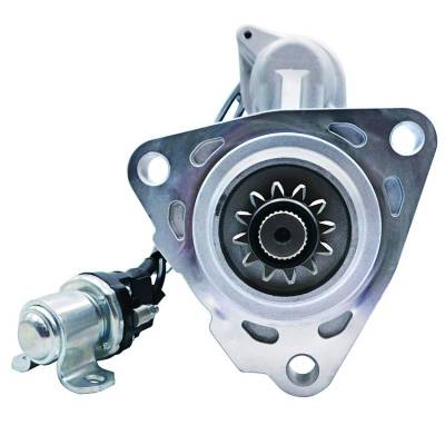Rareelectrical - New 12T 12 Volt Starter Compatible With Peterbilt Truck 384 386 2015 By Part Number 8200977 8201084 - Image 1