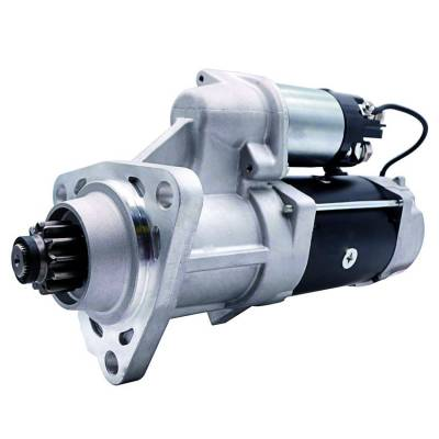 Rareelectrical - New 12T 12 Volt Starter Compatible With Peterbilt Truck 384 386 2015 By Part Number 8200977 8201084 - Image 2