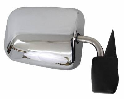 TYC - New Rh Door Mirror Fits Dodge 97 Ram 1500 2500 3500 4000 Power W/O Heat 4675570Ab Ch1321132 55076612 - Image 2