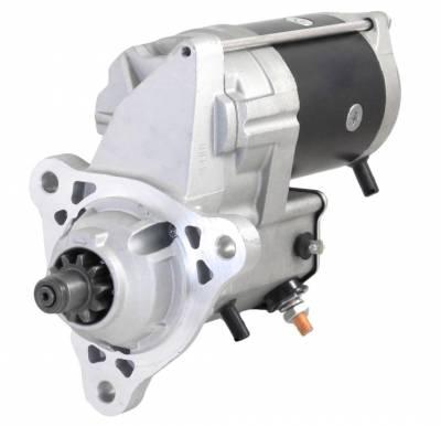 Rareelectrical - New 24V 10T Cw Starter Motor Fits Iveco Stralis 190S40 190S43 190S48 260S40 99486046 - Image 1