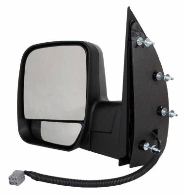 TYC - New Lh Door Mirror Fits Ford 03-07 Econoline Super Duty Dual Glass Puddle Light Fo1320276 - Image 1