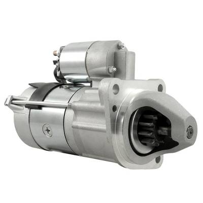 Rareelectrical - New 12 Volt 10 Tooth Starter Compatible With Massey Ferguson Ag Tractor Mf-7497 By Part Number - Image 1