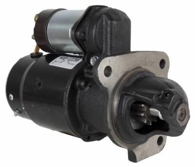 Rareelectrical - New 12V 10T Starter Motor Compatible With Massey Ferguson Lift Truck Mf-2500 Mf-4000 1108379 1108379 - Image 1