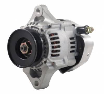 Rareelectrical - New 40 Amp Chevy Mini Alternator Fits 8162 Type Denso Street Rod Race 1-Wire Richmond - Image 1