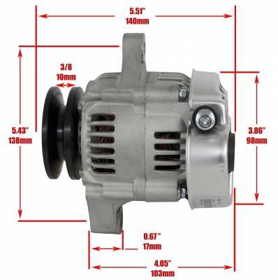 Rareelectrical - New 40 Amp Chevy Mini Alternator Fits 8162 Type Denso Street Rod Race 1-Wire Richmond - Image 3