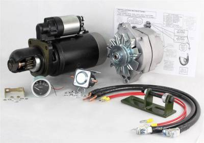 Rareelectrical - New 24 To 12 Volt Alternator And Starter Kit Fits John Deere Tractor 3020 Ty16172 Ts-8000 Ty16172 - Image 1